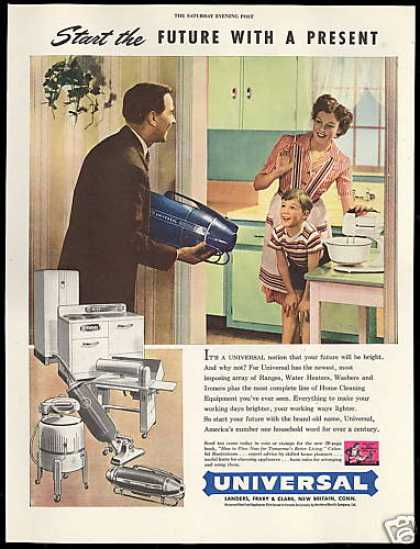 Universal Appliances Vacuum Cleaner a Present (1946)