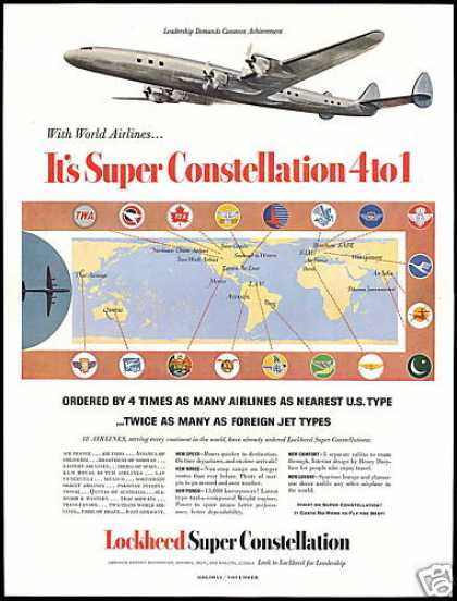 Lockheed Super Constellation Airplane Airlines (1953)
