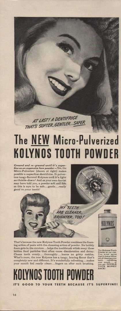 Kolynos Tooth Powder (1942)