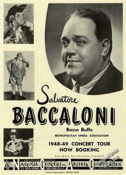 Salvatore Baccaloni Photo Booking (1948)