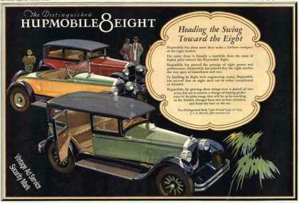 Hupmobile Eight Beautiful Large Color Car (1927)