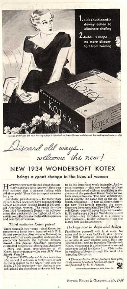 "Kotex's ""New 1934 Wondersoft (1934)"