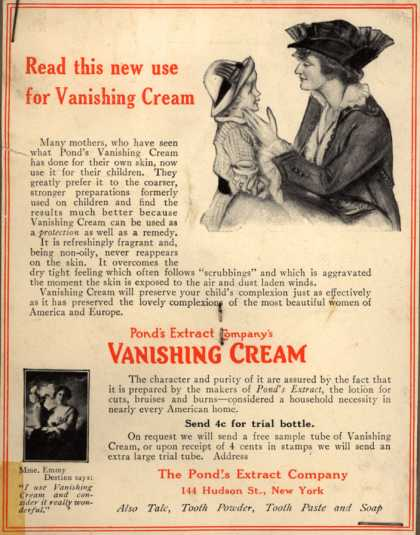 Pond's Extract Co.'s Pond's Vanishing Cream – Read this new use for Vanishing Cream (1914)