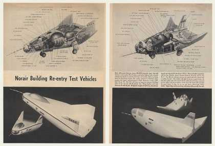 Norair NASA Re-entry Test Vehicles 2-Page Article (1964)