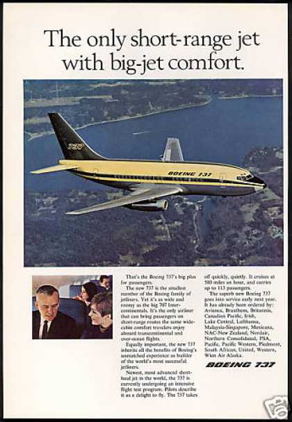 Boeing 737 Airplane Big Jet Comfort (1967)