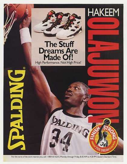Hakeem Olajuwon Spalding Shoes Photo (1995)