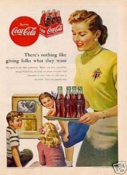 "Coca-cola Ad ""There's Nothing Like... (1952)"