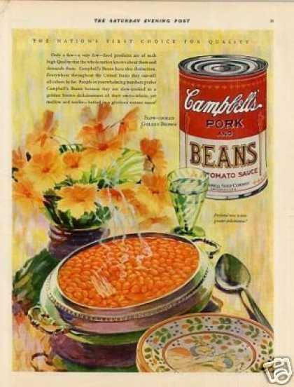 Campbell's Pork and Beans Color (1929)