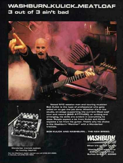 Bob Kulick Photo Washburn (1985)