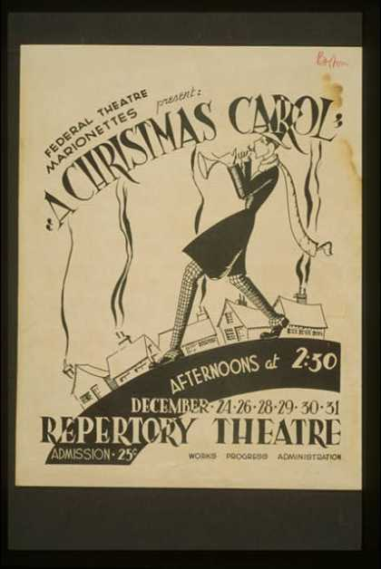 "Federal Theatre Marionettes present ""A Christmas carol"". (1936)"
