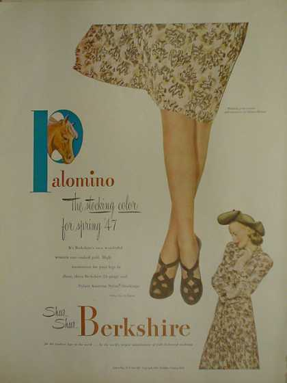 Berkshire Stockings. Palomino. The stocking color for 47 (1947)