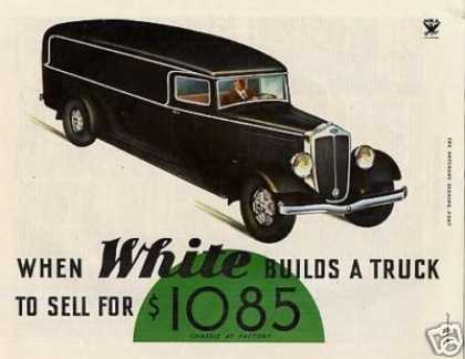 White Truck Ad 2 Page (1934)