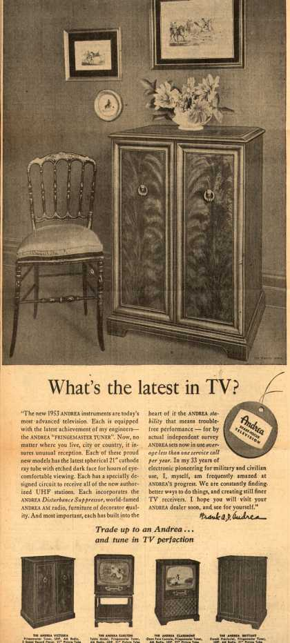 Andrea Radio Corporation's Various – What's the latest in TV? (1952)