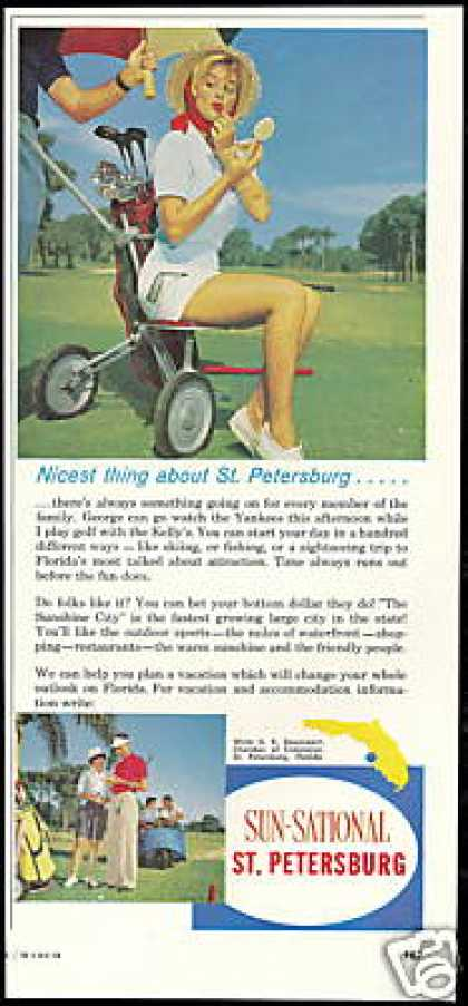 Golf Cart St Petersburg Florida Travel (1961)