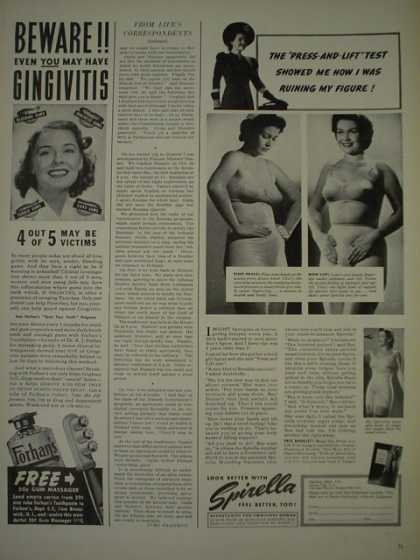 Spirellla womens undergarments girldles (1940)