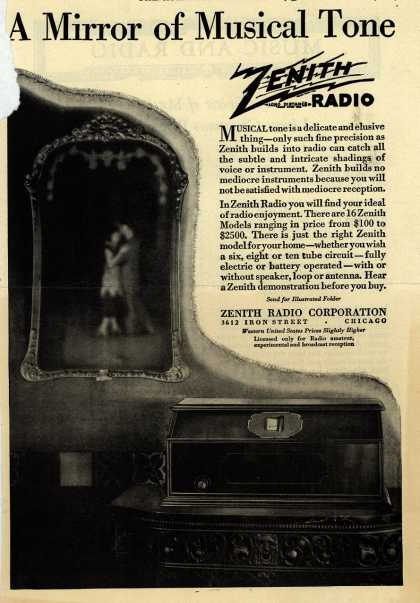 Zenith Radio Corporation's Various – A Mirror of Musical Tone (1927)