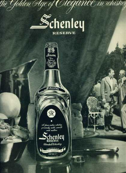Schenley Reserve Blended Whiskey (1955)