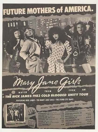 Mary Jane Girls Rick James Tour Photo (1983)
