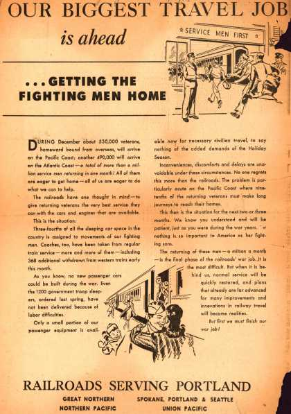 Variou's Portland – Our Biggest Travel Job is ahead (1945)