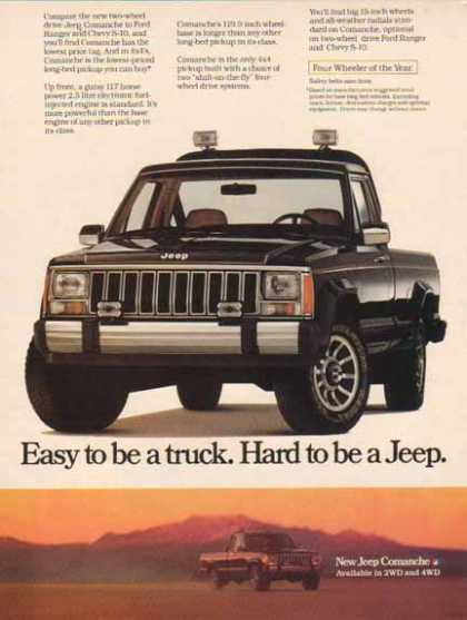 Jeep Comanche Car – Hard to be a Jeep (1986)