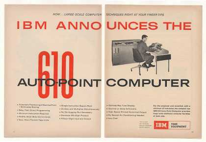 IBM 610 Auto-Point Computer 2-Page (1957)