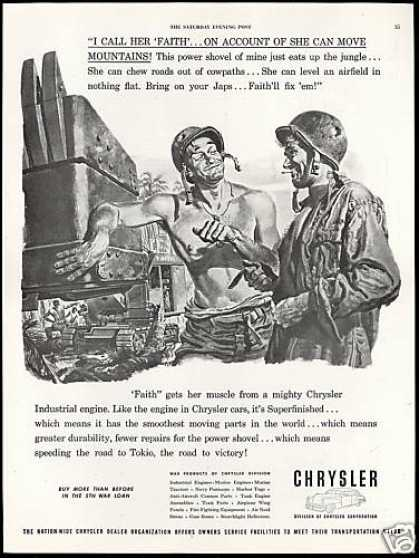 WWII Army Soldiers Power Shovel Chrysler (1944)