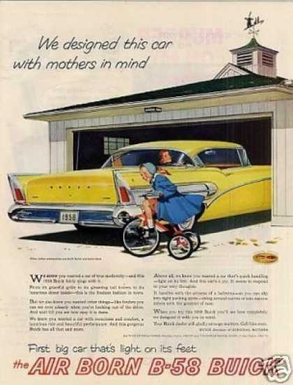 "Buick B-58 Car Ad ""We Designed This Car... (1958)"