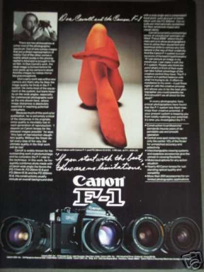 Canon F-1 Camera Photographer Don Carroll (1977)