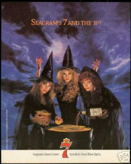Pretty Witch Photo Seagrams 7 Crown Halloween (1990)