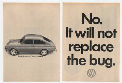 VW Fastback Sedan Will Not Replace Bug (1965)