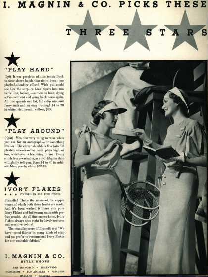 I. Magnin & Co.'s Clothing – I. Magnin & Co. Picks These Three Stars (1934)