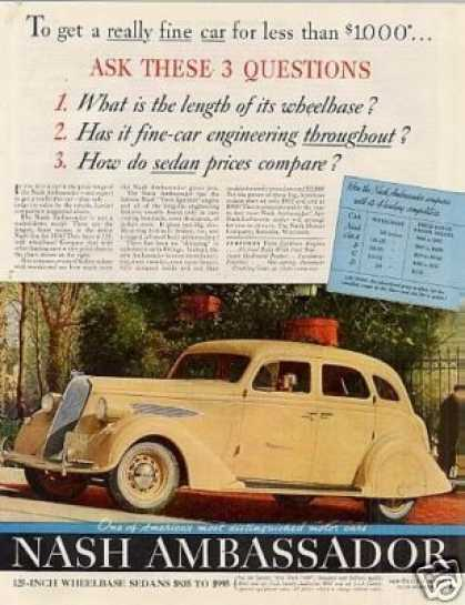 Nash Ambassador Car Color (1936)