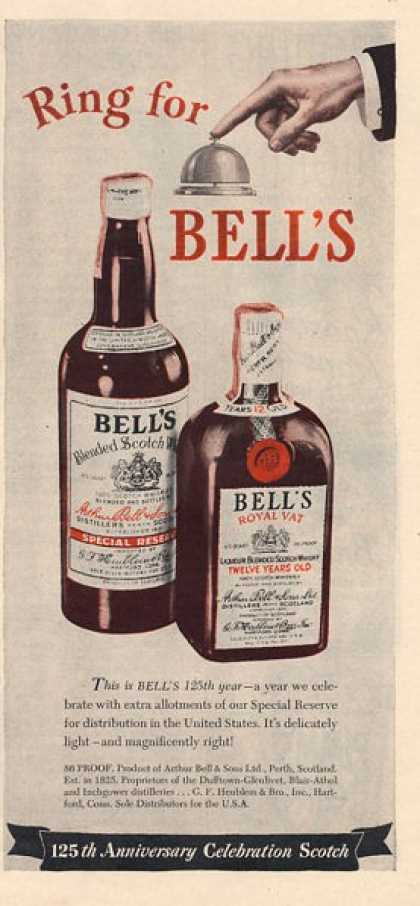 Bell's Scotch Whisky Bottle (1950)