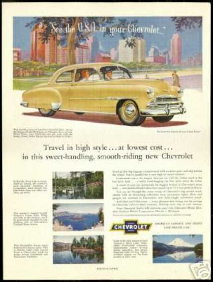 Chevrolet 2 Dr Styleline Deluxe USA Lakes (1951)