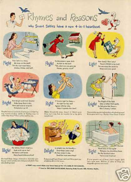"Swan Soap Ad ""Rhymes and Reasons... (1946)"