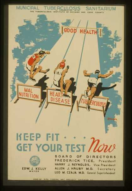 Keep fit ... get your test now / Kreger. (1936)