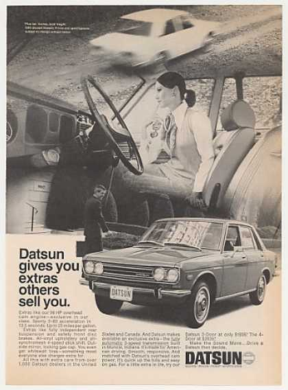 Datsun 4-Dr Sedan Gives You Extras Others Sell (1970)