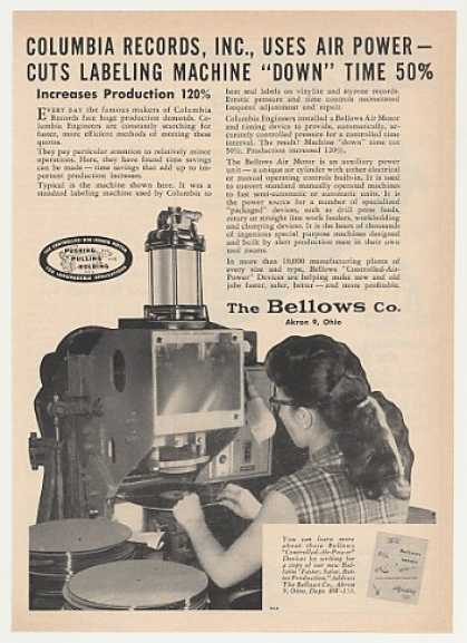 Columbia Records Labeling Machine Bellows Air (1953)