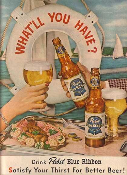 Blue Ribbon Beer (1952)