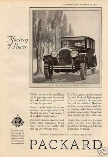 "Packard Car Ad ""Mastery of Power... (1925)"