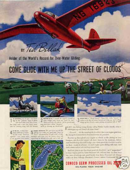 "Conoco Oil Ad ""Come Glide With Me... Ted Bellak (1940)"