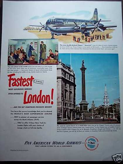 Pan Am Airways Double Decker Clipper To London (1949)