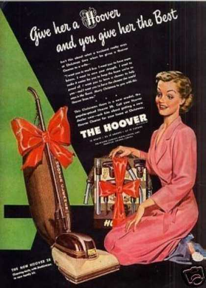 Hoover Vacuum Cleaner Ad Model 28 (1946)