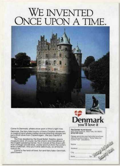 Denmark Castle In Water/mermaid Travel (1987)