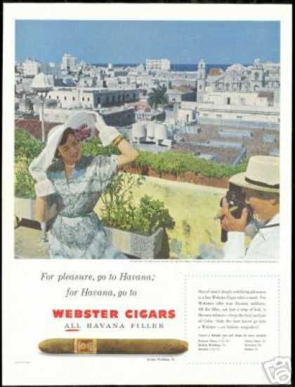 Havana Cuba Photo Webster Cigar Vintage (1951)