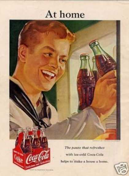 "Coca-cola Ad ""At Home... (1951)"