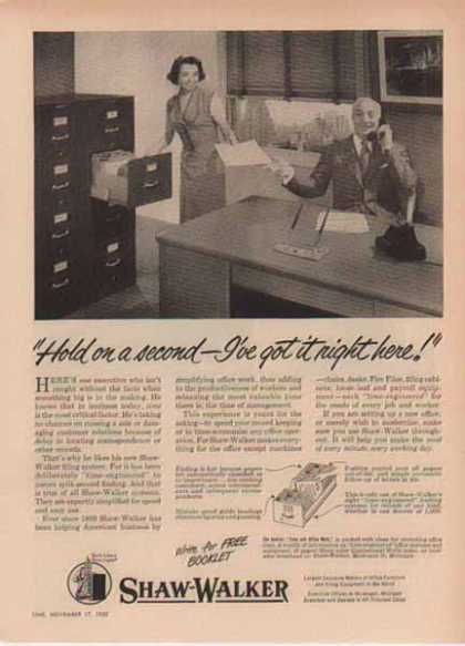 Shaw Walker Filing System & Office Furniture – Sold (1952)