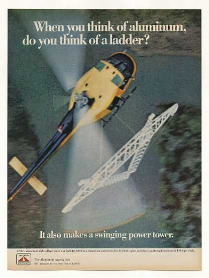 '68 Bell Helicopter Lift High-Voltage Tower Aluminum (1968)