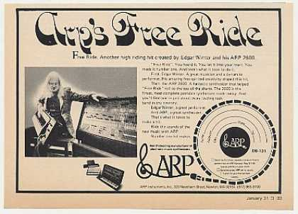 Edgar Winter Free Ride ARP Synthesizer Photo (1974)