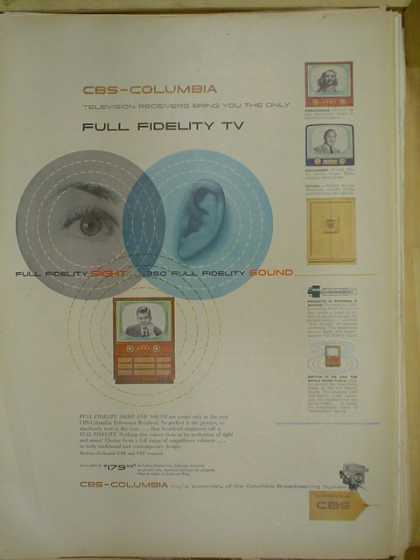 CBS Columbia Full fidelity TV (1953)